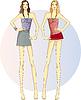ID 3838718 | 两条修长的孪生姐妹 | 向量插图 | CLIPARTO