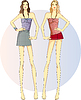 ID 3838718 | 두 슬림 쌍둥이 자매 | 벡터 클립 아트 | CLIPARTO