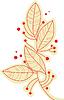 Zweig Blätter | Stock Vektrografik