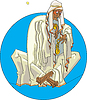 Beduinen mit Uhr | Stock Vektrografik