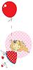 Mädchen mit Ballon | Stock Vektrografik