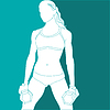 Sport Mädchen | Stock Vektrografik