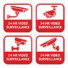 eingestellt von CCTV-Kamera roten Schildern