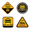 Vector clipart: Taxi cab set stickers