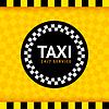 Vector clipart: Taxi round symbol