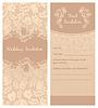 ID 3823228 | Hochzeitseinladung, Blumen Ornament, Hintergrund | Stock Vektorgrafik | CLIPARTO