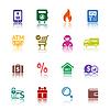 ID 3823829 | Ustaw kolor ikony na zakupy | Klipart wektorowy | KLIPARTO