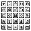 Zeichen set Auto-Dienste. Symbole, Tankstelle