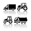 Set von Transport-Ikonen - Traktor und Kipper | Stock Vektrografik