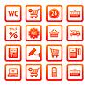 ID 3824728 | Stellen Piktogramme Supermarkt Dienstleistungen, Shopping Icons | Stock Vektorgrafik | CLIPARTO
