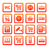 ID 3824728 | Set pictograms supermarket services, Shopping Icons | Klipart wektorowy | KLIPARTO