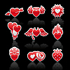 ID 3824749 | Set icons of Valentine`s day red hearts | Klipart wektorowy | KLIPARTO