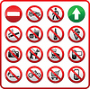 Verbotene Symbole Set