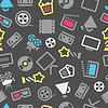 Cinema web Silhouetten nahtlose Muster