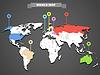 Weltkarte Infografik Vorlage