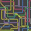 Abstrakt Farbe Bahn-Plan