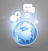 Abstrakt globale Kommunikation Regelung auf der Erde