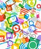 abstrakter Hintergrund Farbe modernen Medien Symbole