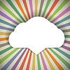 Speech Cloud-Vorlage mit Farbe Strahlen