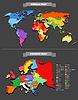 Weltkarte Vorlage. Jedes Land ist frei wählbar