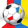 Fussball-Ball mit Polen und Ukrain