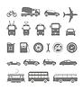 Stadtverkehr Silhouetten Sammlung