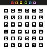 Einfache Web-Navigation Piktogramme Sammlung