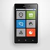 Moderne Handy mit Farb-Schnittstelle