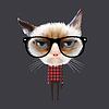 Lustige Comic-Katze | Stock Vektrografik