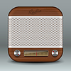 Retro Radio App-Icon | Stock Vektrografik