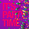 Party Design-Vorlage mit Luftschlangen und Konfetti | Stock Vektrografik