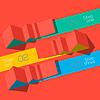 Nowoczesny szablon graficzny informacji w stylu origami | Stock Vector Graphics