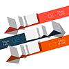 Modernes Design Infografik Vorlage Origami Stil