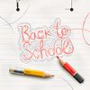 Zurück zur Schule, handschriftlich mit Rotstift