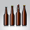 Butelka piwa jasne zestaw bez etykiety | Stock Vector Graphics