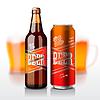 Bierflasche und kann | Stock Vektrografik
