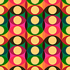 Seamless red yellow circles pattern