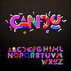 Estilizada alfabetos como confites | Ilustración vectorial