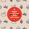 Boże Narodzenie bez szwu wzorzec ręcznie rysowane | Stock Vector Graphics