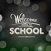 Powrót do szkoły plakatu z tekstem na tablicy | Stock Vector Graphics
