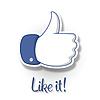 Like / Thumbs Up Symbol Symbol | Stock Vektrografik