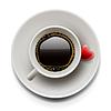Filiżanka kawy z góry. Walentynki | Stock Vector Graphics
