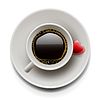 Tasse Kaffee Draufsicht. Valentine `s day | Stock Vektrografik