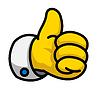 Cartoon Like / Thumbs Up Symbol | Stock Vektrografik