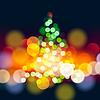 Weihnachtsbaum Lichter Hintergrund | Stock Vektrografik