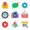 Basic-Wohnung Symbol für Web und mobile Anwendung eingestellt