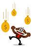 비즈니스 테마에서 만화 원숭이 | Stock Vector Graphics