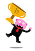 비즈니스 활동의 돼지 | Stock Vector Graphics