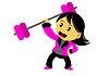꼬마 여자 만화 캐릭터 | Stock Vector Graphics