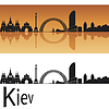 Kijów skyline | Stock Vector Graphics